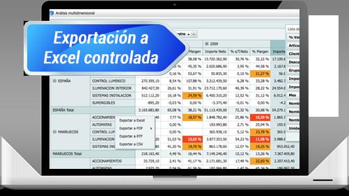 Atlas SBI Exportación Excel