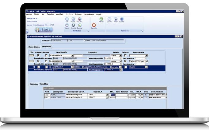 Solución de control calidad de AS Software