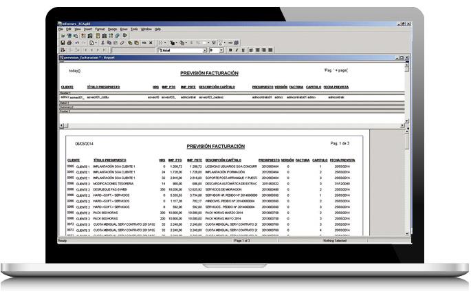 Solución de generador de informes de AS Software