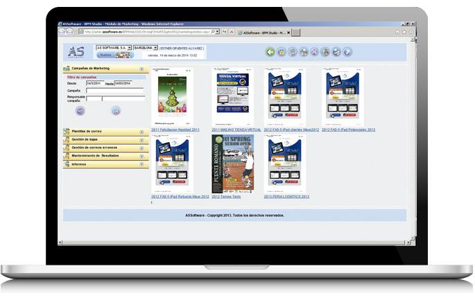 Suite de marketing de AS Software