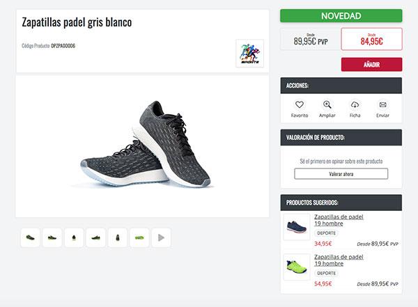 Beneficios del ecommerce - Ficha de producto